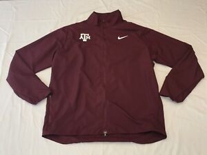 NEW Nike Texas A&M Aggies Team Issue Full Zip Running Jacket Men's LARGE *RARE*