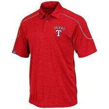 Texas Rangers Synthetic Polo Shirt 4xl Run Down Majestic Red MLB Top of The Line