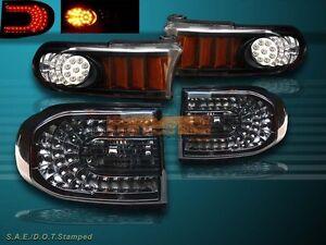 2007-2010 TOYOTA FJ CRUISER LED TAIL LIGHTS SMOKE + BLACK LED PARKING LIGHTS