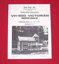 Dura-Craft *VICTORIAN* VH-600 (1987) Dollhouse Instructions *OFFERING DIGITAL*