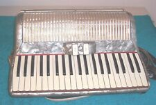 Silvio Soprani 120 bass Accordion 2/4 reeds Silver Accordian Italy Good cond.
