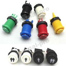 28mm Round Concave Happ Style Arcade Button & Microswitch -MAME, JAMMA