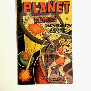 Fiction House Golden Age Planet Comics #43 Comic Book 1946