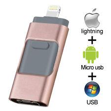 3 IN 1 USB IOS Flash Drive Storage Memory Stick For iPhone 6 7 8 X IOS iPad 64GB