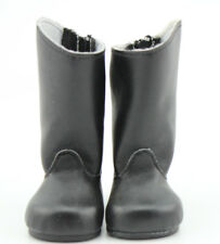 "Black Leather BOOTS Shoes Made for Fit 18"" American Girl Doll Clothes Reborn"