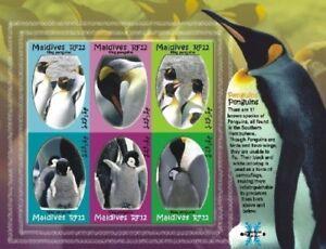 Maldives - Penguins Stamp - Sheet of 6 MNH