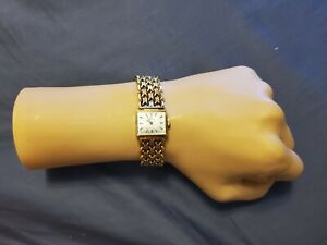 Rare Vintage Bucherer Square Gold Plated Manual Wind Ladies Watch