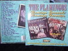 THE FLAMINGOS - FLAMINGO SERENADE / FAVORITES - UK 24 TRK CD -DOO WOP-SOUL-R & B