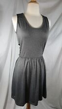 Bench Sleeveless Knee Length Gray Micro Stripe Dress sz S