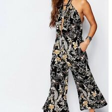 NWT FREE PEOPLE CROP TWISTED HALTER FLORAL JUMPSUIT 2