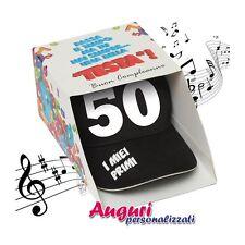 Berretto Musicale compleanno 50 anni regalo divertente  regalo festa compleanno
