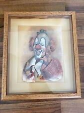 Thomas Emery SIGNED 3-D Art Original Decoupage Clown by Robert Owen 1986 Framed