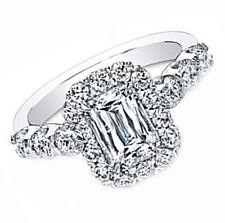 GIA Certified 4.00 Carat Emerald Cut Diamond Engagement Ring Platinum