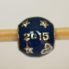 New Disney Pandora Park Exclusive Blue 2015 Sparkling Sterling Silver Bead Charm