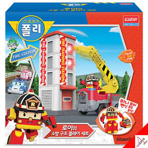 RoboCar Poli ROY Fire Training Station Play Set Toy-Sound S83409