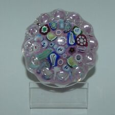 John Deacons Scotland Millefiori End of Day Daisy Large paperweight PINK