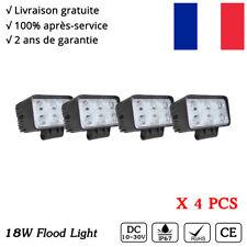 4x Phares longue portée LED Rampe de travail rectangulaire tracteur SUV 4x4 12V