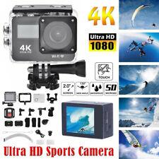 4K 1080P HD 2'' Dual Touch Screen Sport Action Camera WiFi Waterproof Go Pro new