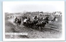 1950s Calgary Stampede Chuckwagon Chuck Wagon Race Real Photo Postcard C20