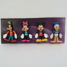 """CLASSIC DISNEY BENDABLE BENDY 4"""" FIGURES, GOOFY, MINNIE, MICKEY MOUSE, DONALD"""