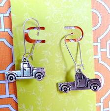 Pickup Truck Transportation Vehicle Theme Silver Kidney Wire Earrings
