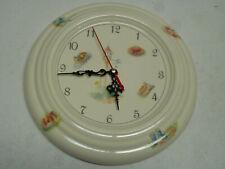 Aynsley Edwardian Kitchen Garden Fine Bone China Wall Cottage Clock RARE -