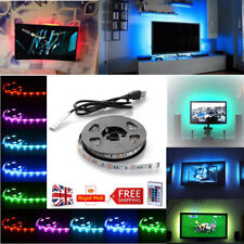 5050 Bright LED 3M/4M USB LED STRIP LIGHTS TV PC BACK LIGHT RGB COLOUR CHANGING