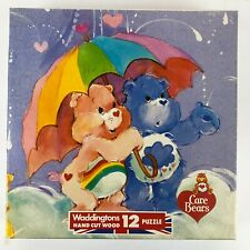 Waddingtons CARE BEARS Retro Hand Cut Wooden Jigsaw Puzzle 12 pieces 1980s
