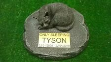 cat Large Pet Memorial/headstone/stone/grave marker/memorial with plaque ag13