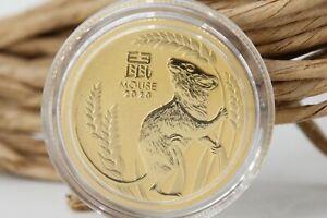 Australien 25 Dollar 1/4oz Gold Münze Mouse 2020 Lunar 3 gekapselt 1/4 Oz #M05
