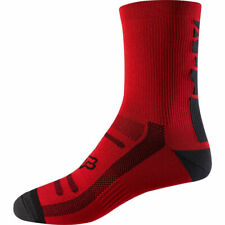 "Fox Mountain Bike Cycling 8"" Sock Bright Red Size S/M"