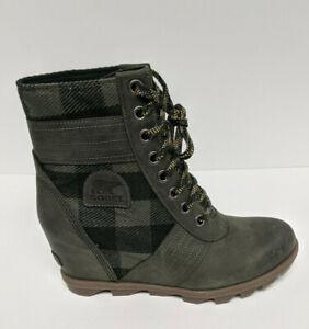 Sorel Lexie Wedge Boots, Dark Green, Women's 10 M