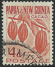 PNG 1958  4d Red Cacao Plant FU  (2)  Very clean