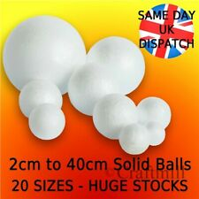 POLYSTYRENE BALLS solid - Sweet Trees Craft Baubles 2cm to 40cm Spheres UK stock