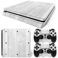 PS4 slim Skin White wood grain Cover Sticker for Sony playstation 4