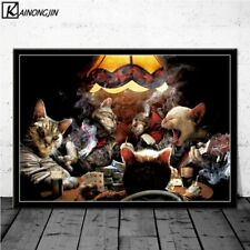 Poster Dogs Playing Poker Cats Funny Style Posters Wall Decor Poster , no Framed