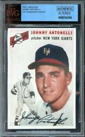 1954 si magazine topps ad cards JOHNNY ANTONELLI giants BGS BVG AUTHENTIC