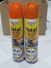 More details for 2 x zero in total household all insect killer 300ml spray new