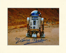 KENNY BAKER R2D2 STAR WARS FORCE AWAKENS PP 8x10 MOUNTED SIGNED AUTOGRAPH PHOTO