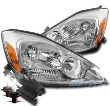 FOR 04-05 TOYOTA SIENNA CE LE XLE HEADLIGHT HEADLAMP LAMP CHROME W/50W 6000K HID