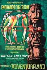 "Vintage Disneyland Enchanted Tiki Room 1963 [ 8.5"" x 11"" ]  Glossy Poster"