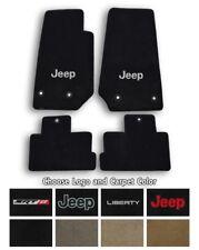 2002-2013 Jeep Liberty Velourtex Carpet 4pc Floor Mat Set - Choose Color & Logo