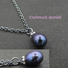 TROLLBEADS Fantasykette Silber mit Pfauen Perle / Peacock Pearl - 90 cm