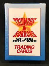 1991 TRIUMPHS & HORRORS OF THE GULF WAR 50 CARDS FACTORY SEALED BOX COMPLETE SET