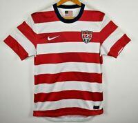 Nike 2012 USMNT USA Home Soccer Jersey Men's Stripe Red Sz Small Waldo Rare