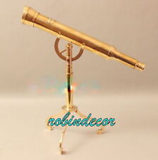 Antique vintage nautical brass Telescope victorian marin1915 london with stand