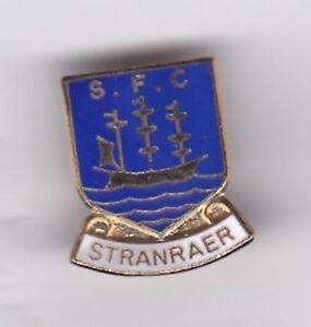 Stranraer - mainly blue lapel badge brooch fitting
