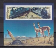 TIMBRE STAMP BLOC CHILI Y&T#32 TRAIN RAILWAYS LAMA NEUF**/MNH-MINT 1988 ~C29