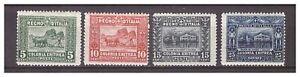 S14004) Eritrea 1910/14 Mxxlh Neu Ling: Soss. Afrikanische 3v. Sass. 34/37