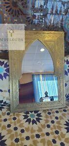 Moroccan Mirror Floor Mirror Brass Mirror, Art deco Mirror, 3 sizes and 2 colors